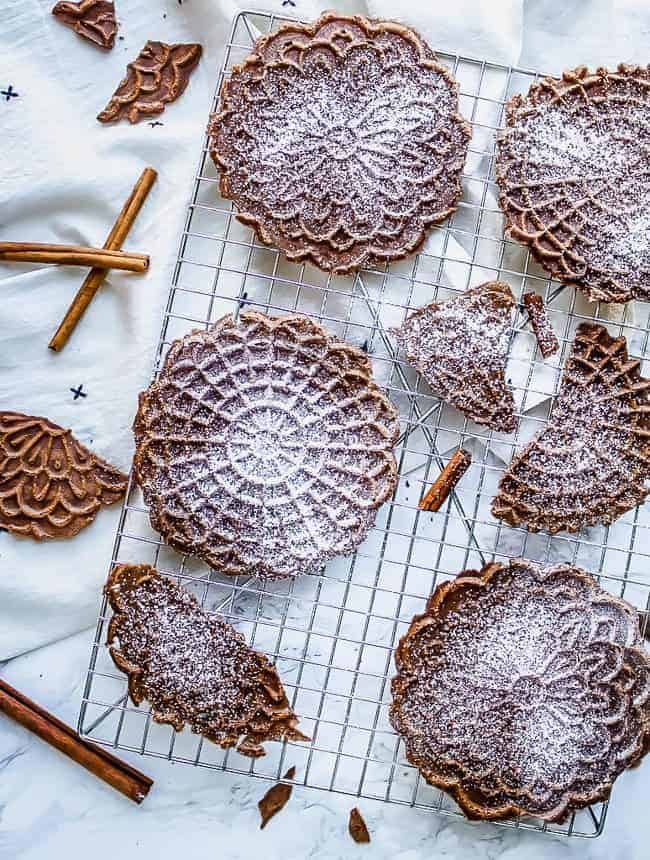 cinnamon sugar pizzelles