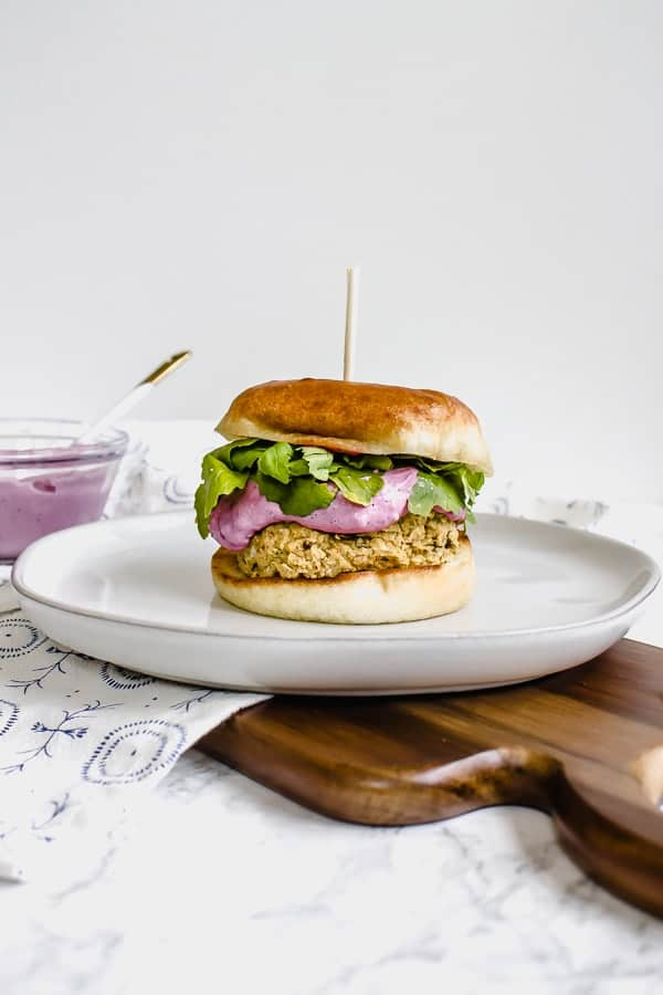 cranberry falafel burger