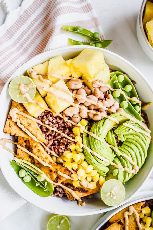 Chipotle Ranch Pineapple Rice Bowls