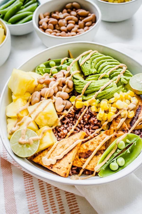Chipotle Pineapple Ranch Rice Bowls