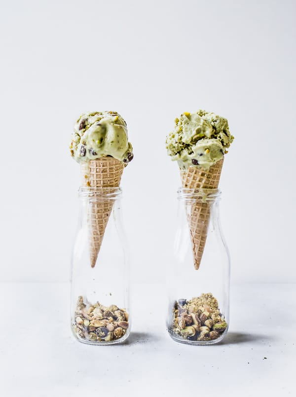 Vegan Matcha Pistachio Chocolate Chip Ice Cream