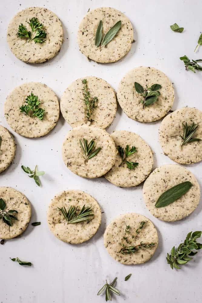 Savory Shortbread Herb Biscuits