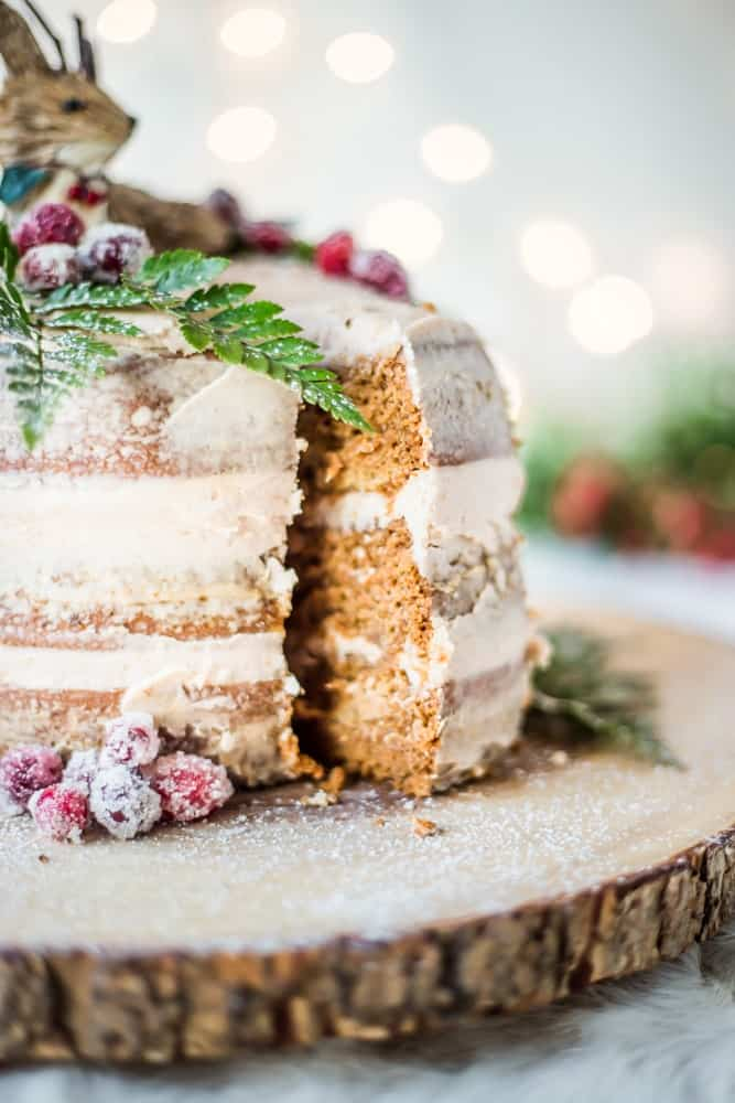 Gingerbread Cake with Cinnamon Frosting