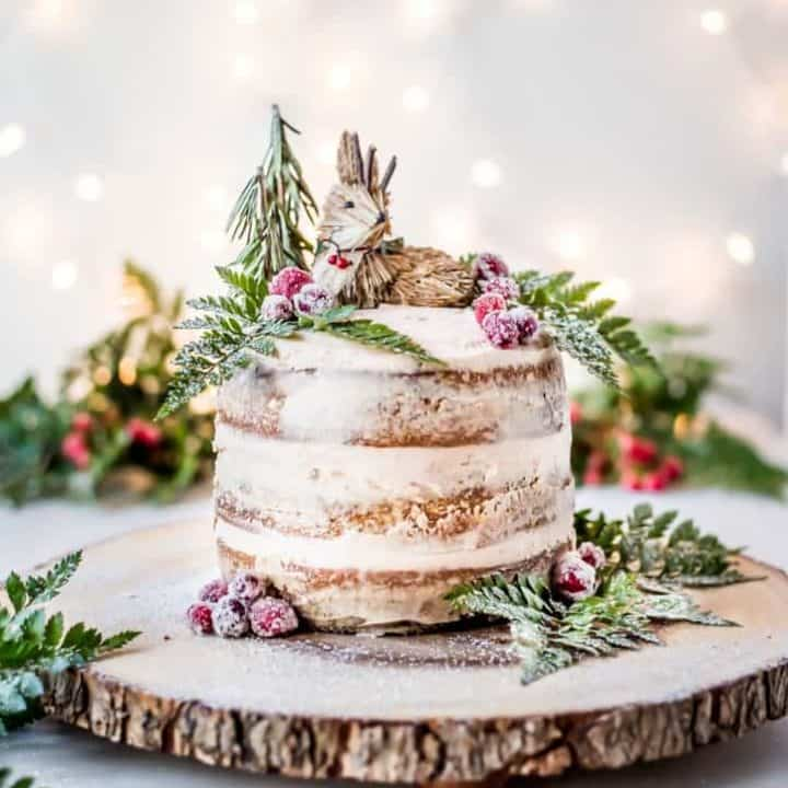 Gingerbread Cake with Cinnamon Buttercream Frosting