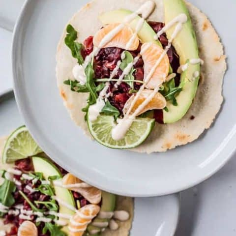 Pickled Beets + Clementine Tostadas