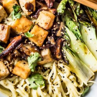 Creamy Green Curry Noodle Bowls