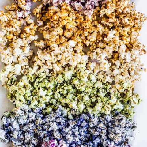Superfood Rainbow Popcorn