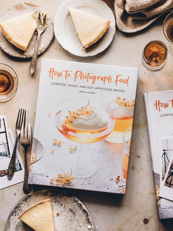 a photo of the book How to Photograph Food with slices of pie around it
