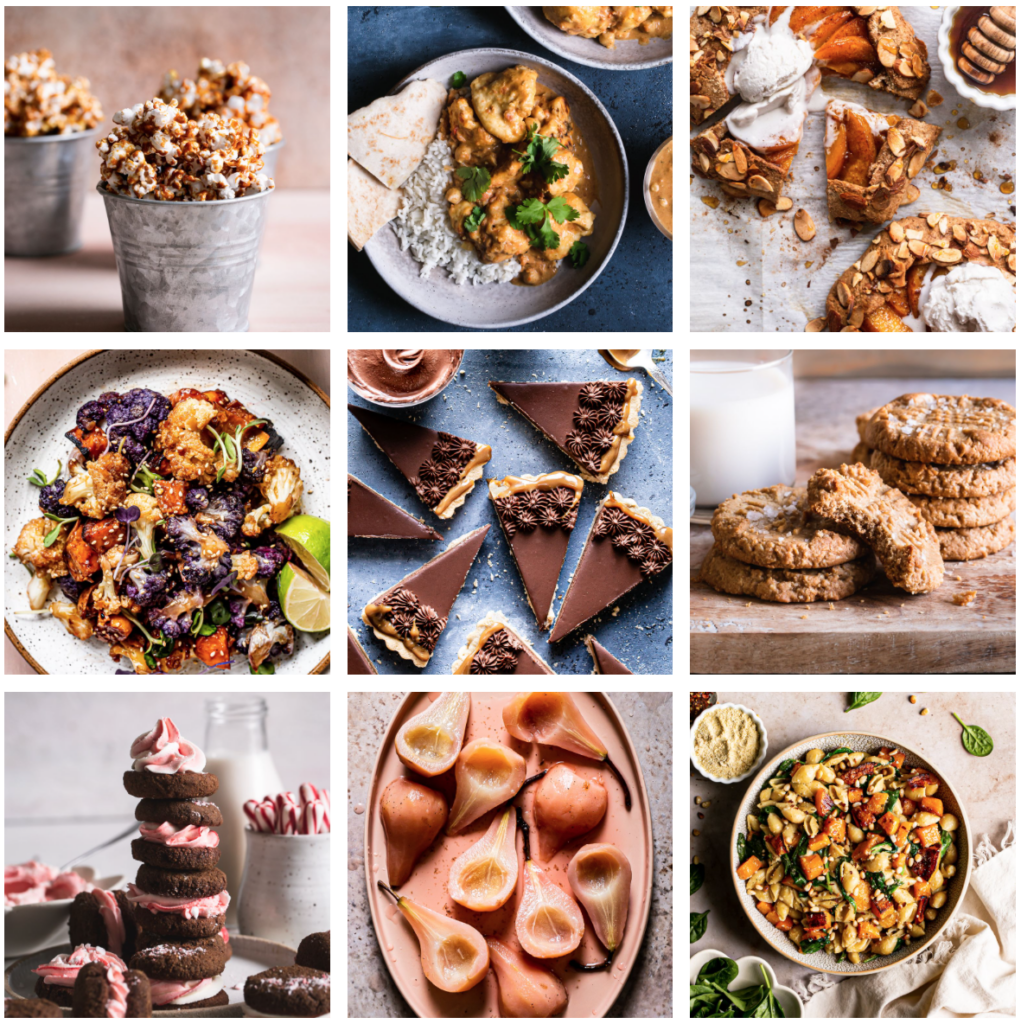 a photo collage of my food photography